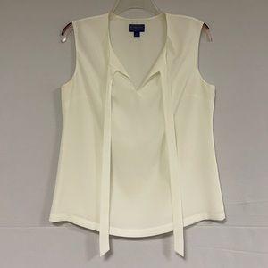 Pendleton Sleeveless Tie Blouse Size 4 Petite